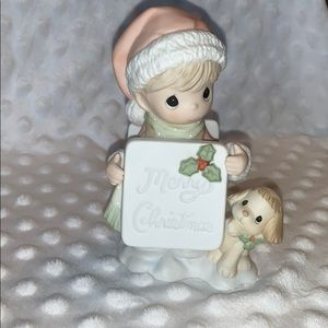 Lighted Merry Christmas Happy New Year PM figurine